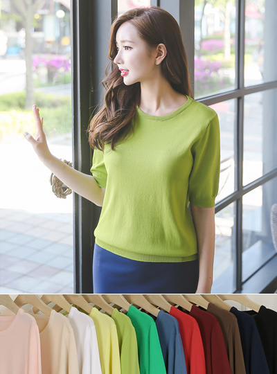 Eco Basic Round Knit (short-sleeved)