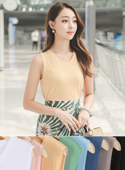 Fruits Cooling Basic sleeveless knit
