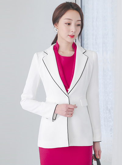 Side Line Color Combination Piping Tailored Jacket