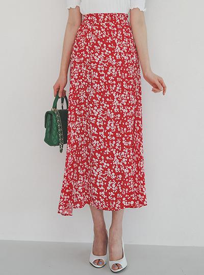 Mini Flower Ribbon-Wrap Rong Skirt