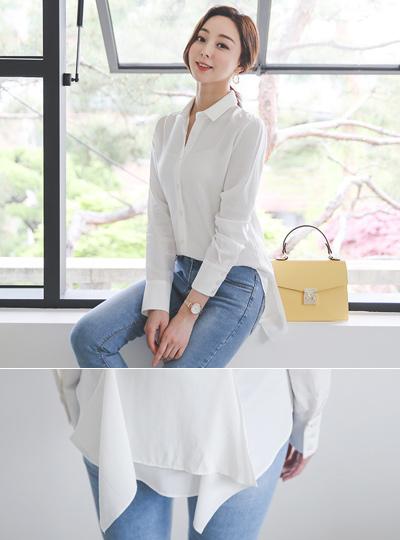 unique Back-Peplum Skily Shirt Blouse