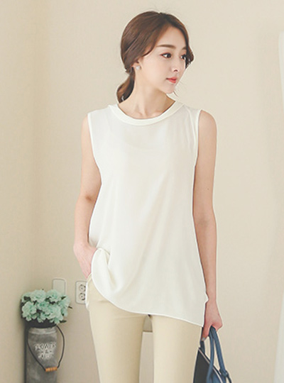 The rotor Long Sleeveless Blouse