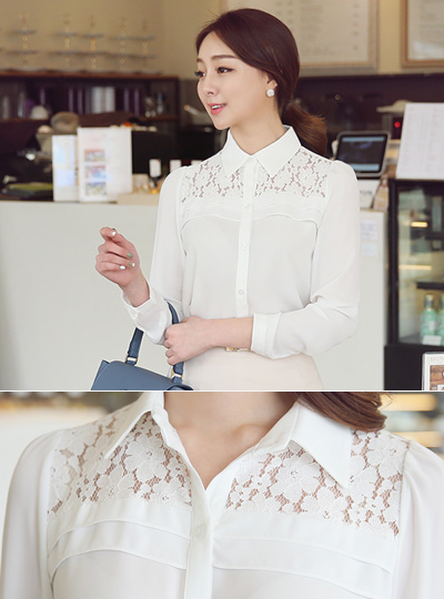 Race Shoulder Kara Blouse