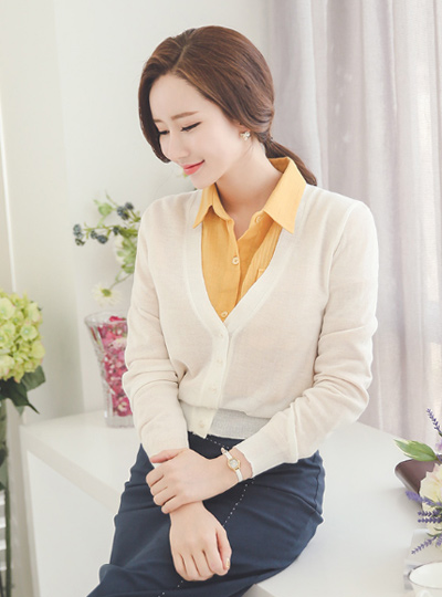 Daily V-neck Cardigan