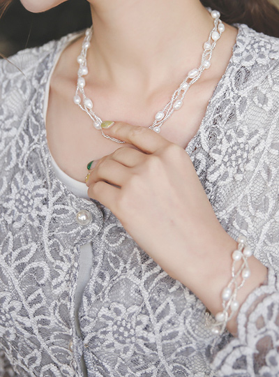 Fresh Water Pearl Magnet Necklace&bracelet