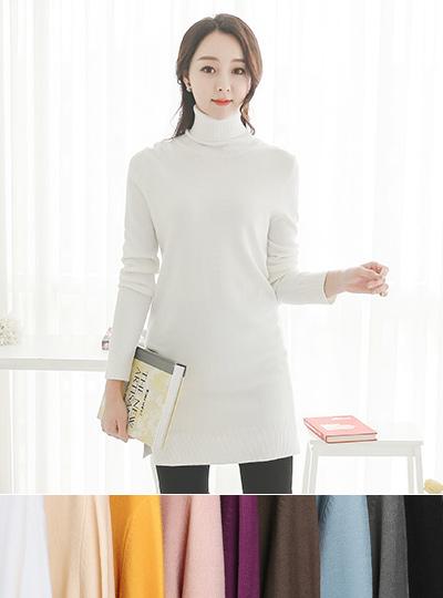 Basic Wool Cache Long knit Dress