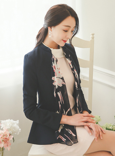 Two-way scarf detachable Aline Jacket (spring)