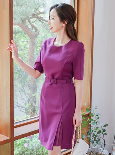 Violet Pleats Inserts Dress