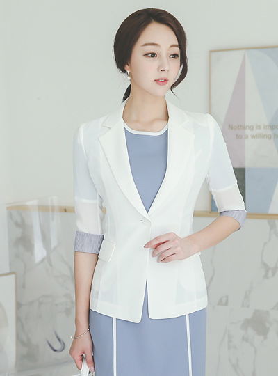 Cooling pinstripe color combination Jacket