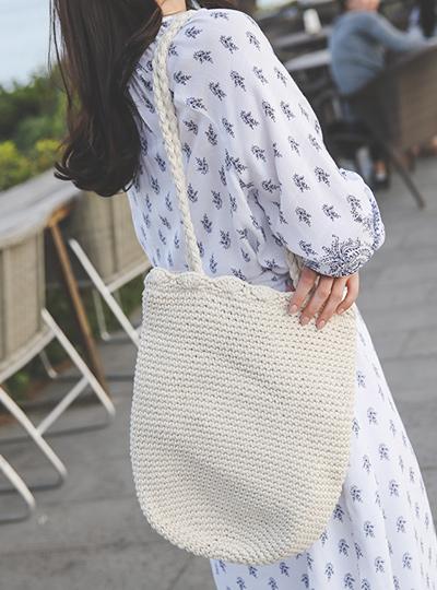 Summer Daily Knitting Shoulder Bag