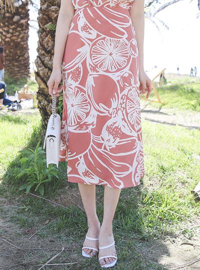 Fruit Printing A-line Skirt