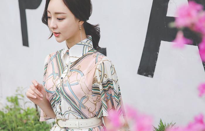 Dressy Wing Sleeves Chiffon Pleats Dress