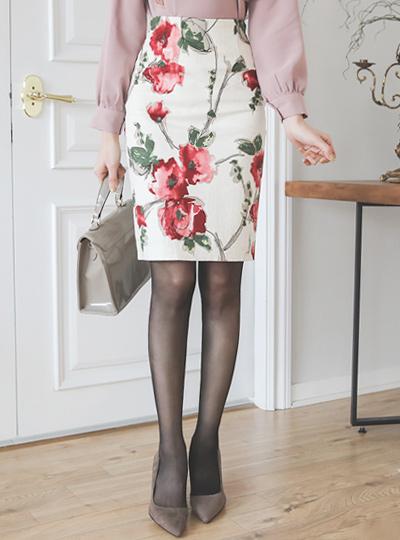 Croquis Jacquard Cotton Span Skirt