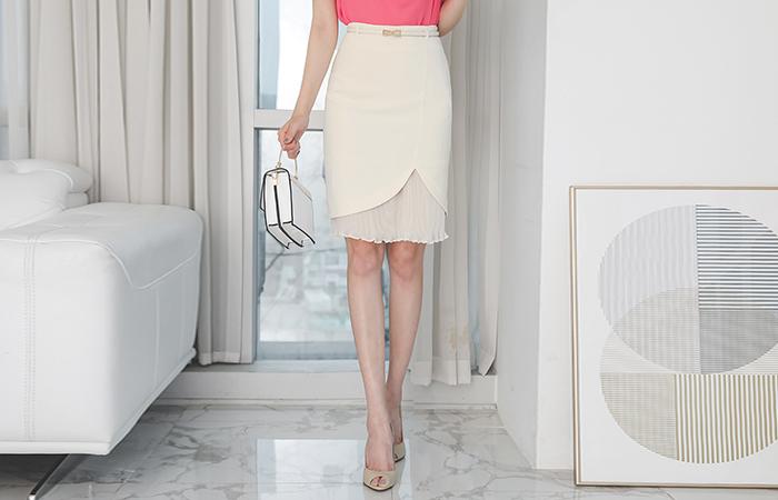 Wrinkle Pleats Tulip SkirtⅡ