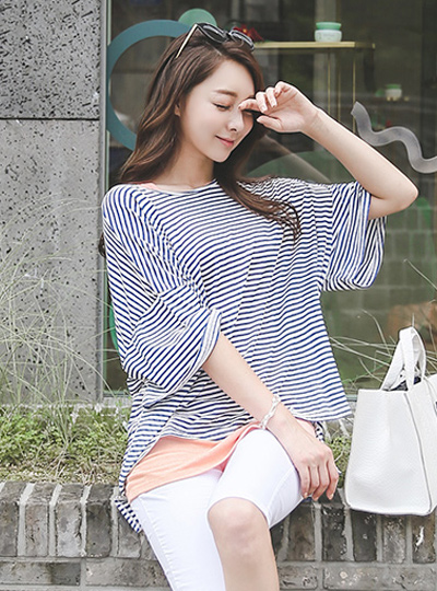Bali Stripe loose fit T-shirt