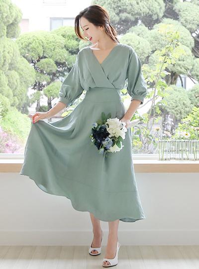 Bella Linen Maxi Dress