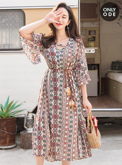 Ethnic Tunic Dress (BeltSET)