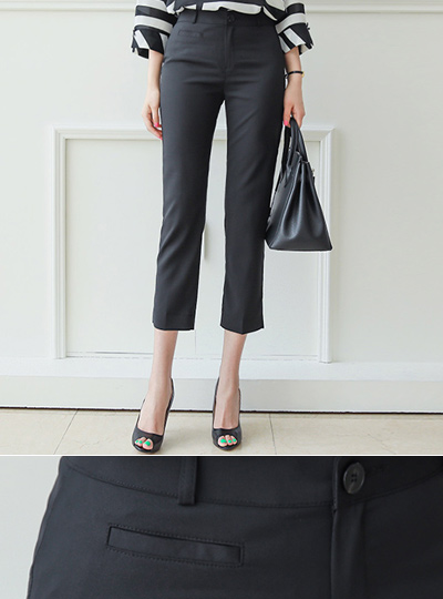Cooling Lip Pocket Straight Slacks