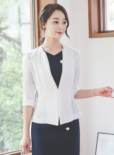 Square double No collar Jacket (summer)