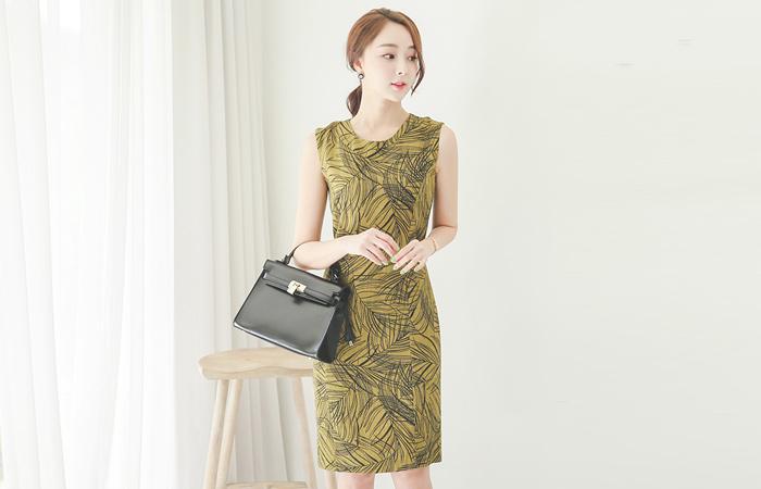 Ikea leaf Linen Dress