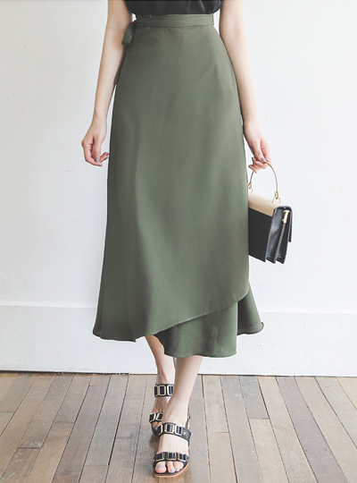 Natural A-line Wrap Skirt