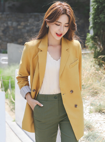 Two-way Belted Tailored Linen Jacket