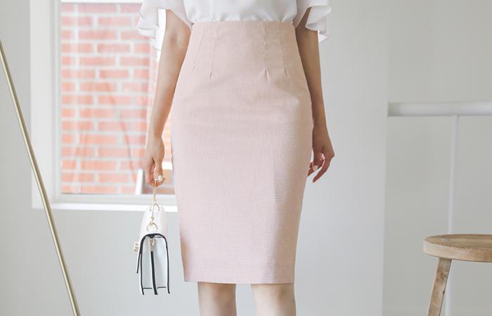 Star Check H-line Span Skirt