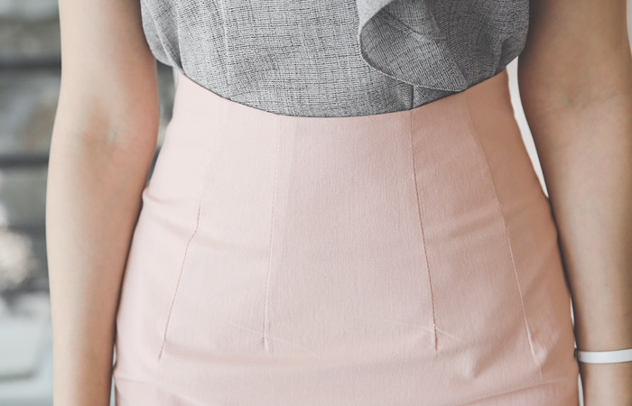 Dart High-Waist Slim Span Skirt
