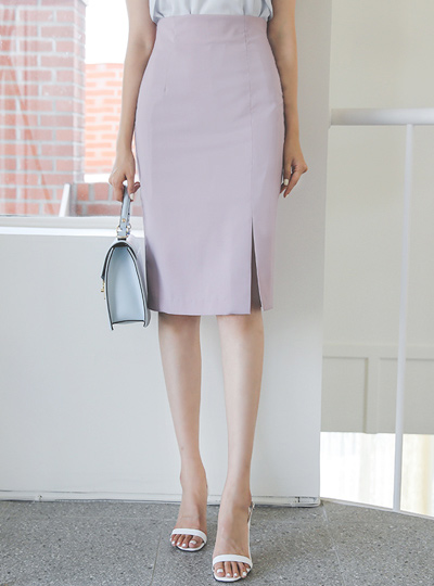 Skirt high waist edge teuim