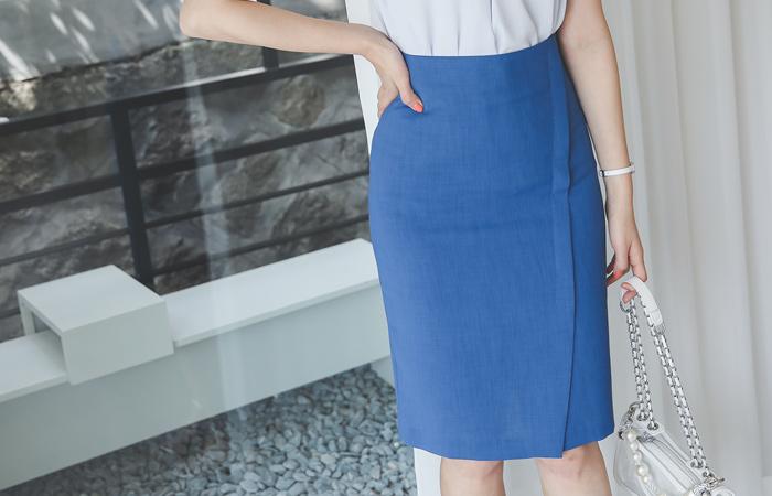 Cooling Diagonal Cutting Slit Span Skirt
