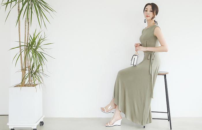 Skily Span Glam twist Long Dress