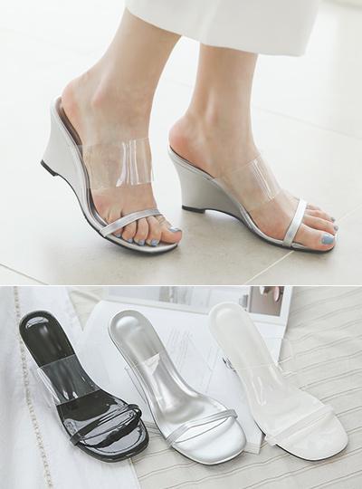 Transparent Strap Sandals Slipper Heels