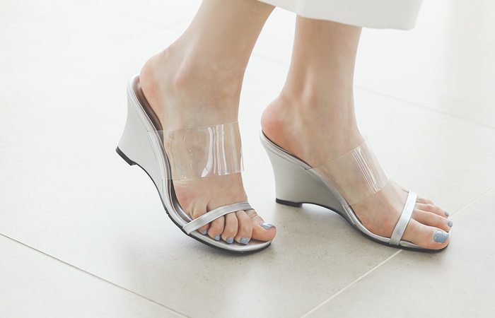 Transparent Strap Sandals Slipper Heels