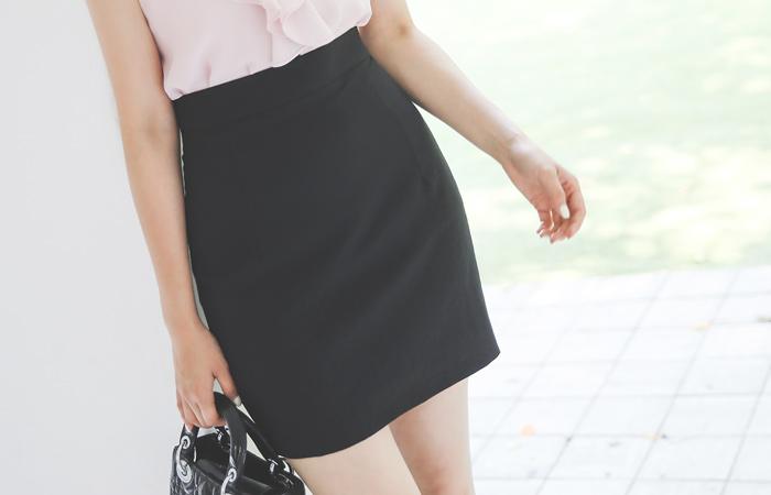 Cooling Texture Obi Mini Skirt