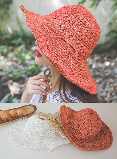 Romantic Ribbon Summer Hat