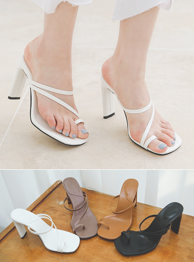 Flip Flop Strap Slippers High Heels