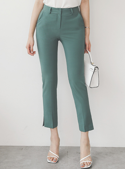 Cooling Straight Slim Span Slacks