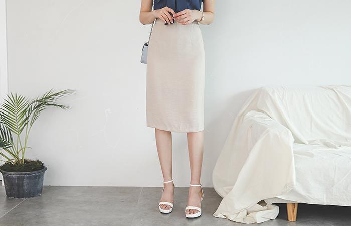 Soft H-line Obi-Line Skirt