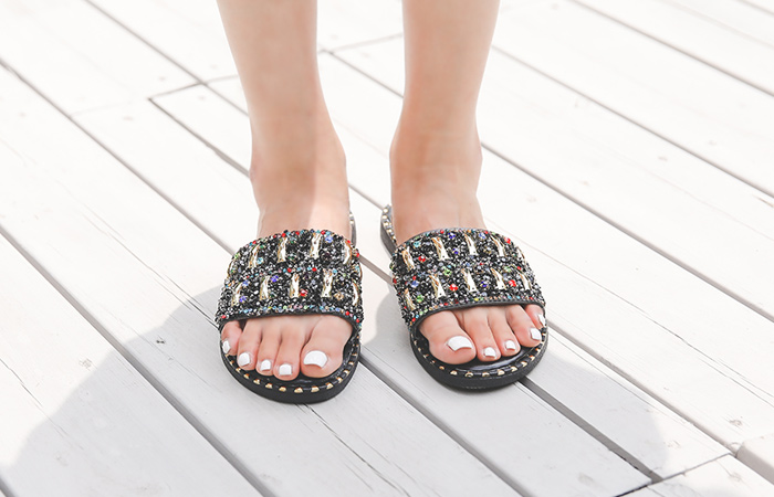quilting Beads Silver&Gold Slippers