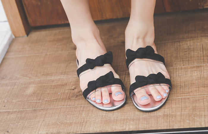 Petit Ribbon Transparent Slippers