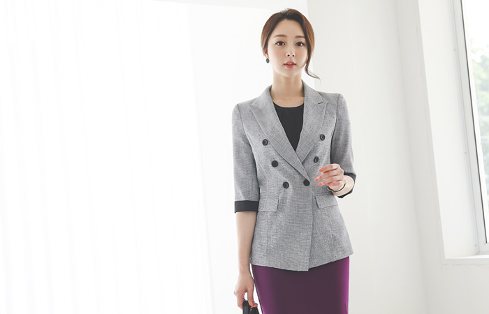 Cooling quality Colored-Sleeves Double-button Jacket