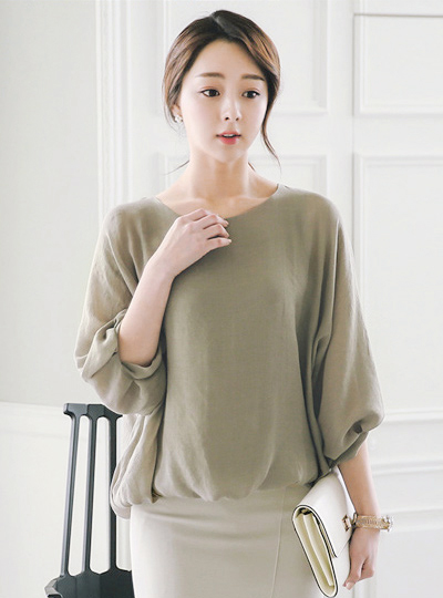Shine Natural Balloon Blouse
