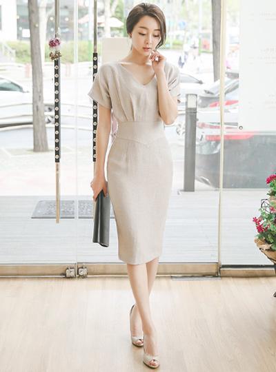 Charlotte Bag Ribbon Linen Dress