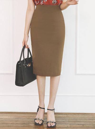 Dart High-Waist Span Skirt