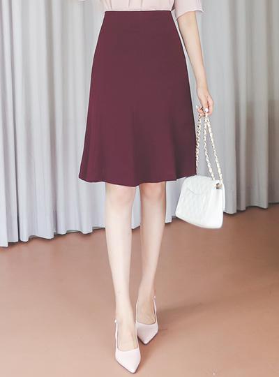 Volume Cutting-line Gored A-line Skirt