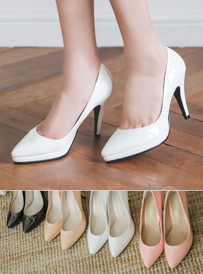 Platform shoes Enamel Simple Cushion High Heels
