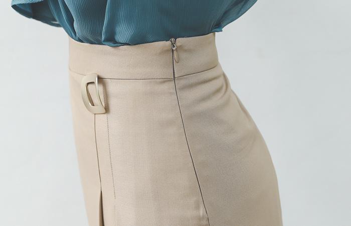 Gold Square layered Mood Long Skirt