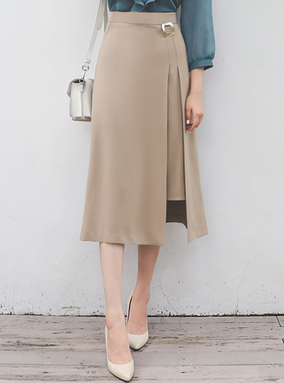 Gold Square layered Mood Long Skirt