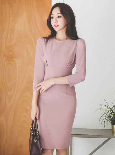 Grace Glam Shirring Slim Span Dress