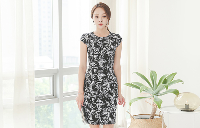 Ireca cap sleeve Cotton span Dress